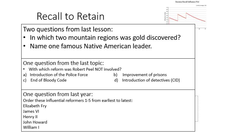 recall to retain